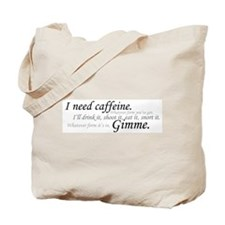 Caffeine Frenzy Tote Bag
