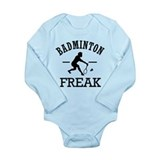 Badminton Freak Long Sleeve Infant Bodysuit