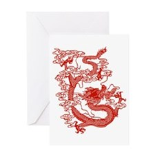 Red Chinese Dragon Greeting Card