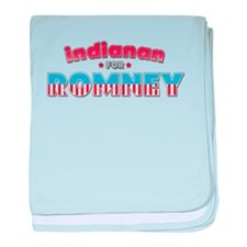 Indianan For Romney baby blanket
