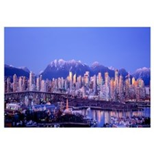 Twilight, Vancouver Skyline, British Columbia, Can