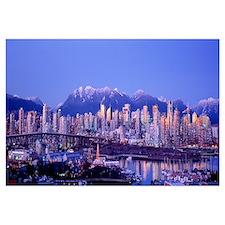 Twilight, Vancouver Skyline, British Columbia, Can