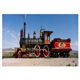 Train engine on a railroad track, Locomotive 119,