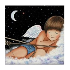 Sleeping Cupid Tile Coaster