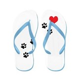 Cute Valentine's day for kids Flip Flops
