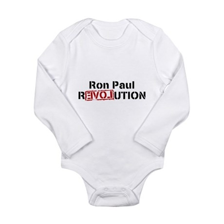 Ron Paul Revolution Long Sleeve Infant Bodysuit