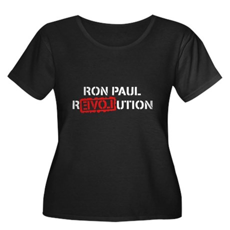 Ron Paul Revolution Womens Plus Size Scoop Neck D