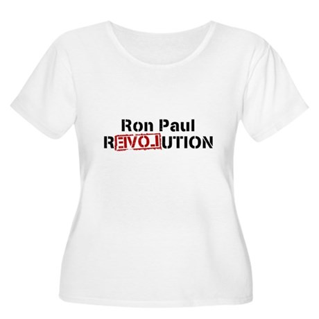 Ron Paul Revolution Womens Plus Size Scoop Neck T