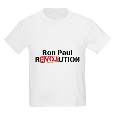 Ron Paul Revolution Kids Light T-Shirt