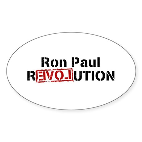 Ron Paul Revolution Oval Sticker