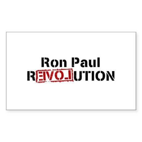 Ron Paul Revolution Rectangle Sticker