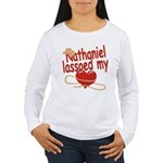 Nathaniel Lassoed My Heart Women's Long Sleeve T-S