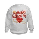 Nathaniel Lassoed My Heart Kids Sweatshirt