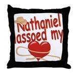 Nathaniel Lassoed My Heart Throw Pillow