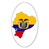 """Pixel Ecuador"" Oval Decal"
