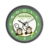 Silly Monkeys Wall Clock