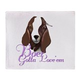 Boer Goat Gotta Love'em Throw Blanket
