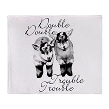 Double Trouble Twins Throw Blanket