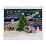 XmasMagic/ Pekingese #10 Throw Blanket