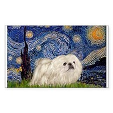 Starry Night white Peke Decal