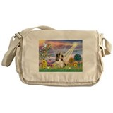 Cloud Angel & PBGV Messenger Bag