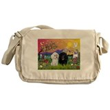 Fantasy Land & 2 Poodles Messenger Bag