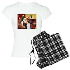 Santa's 2 Std Poodles Pajamas