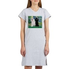 Bridge & Poodle Pair Women's Nightshirt