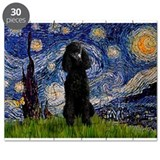 Starry Night Black Poodle (ST Puzzle
