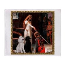 Accolade & Poodle Pair (ST1) Throw Blanket