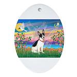 Guardian /Rat Terrier Ornament (Oval)