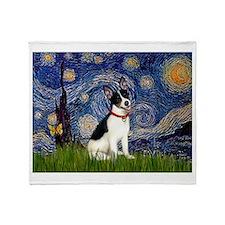 Starry Night / Rat Terrier Throw Blanket