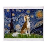 Starry Night &amp; Saluki Throw Blanket