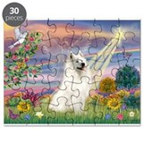 Cloud Angel & Samoyed Puzzle