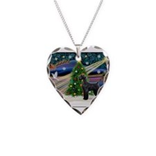 Xmas Magic-Blk Giant Schnauzer Necklace