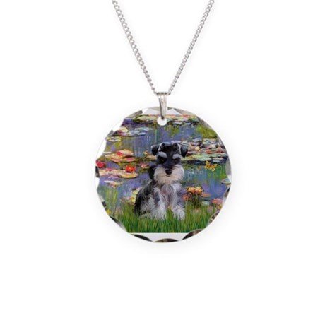 Liles & Schnauzer (Nat.) Necklace Circle Charm