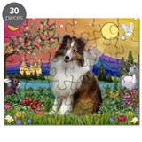 Sheltie in Fantasy Land Puzzle