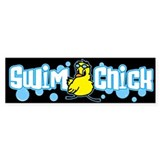 Swim Chick 2 Bumper Sticker