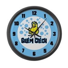 Swim Chick 2 Large Wall Clock