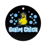 Swim Chick 2 Ornament (Round)