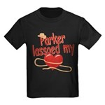 Parker Lassoed My Heart Kids Dark T-Shirt