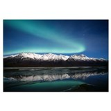 Northern Lights Over Chugach Mts Knik River Southc
