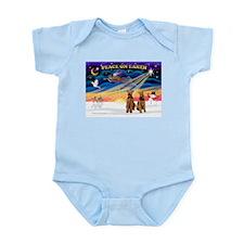 XmasSunrise/2 Airedales Infant Bodysuit