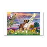 Cloud Angel & Amstaff Car Magnet 20 x 12