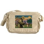 Saint Francis / Beagle Messenger Bag