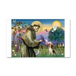 Saint Francis / Beagle Car Magnet 20 x 12