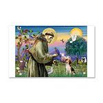 Saint Francis / Beagle Car Magnet 20 x 12