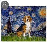 Starry Night & Beagle Puzzle
