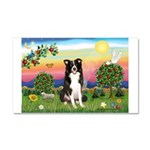 Bright Country/Border Collie Car Magnet 20 x 12