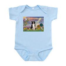 Cloud Angel Border Collie Infant Bodysuit